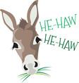He Haw vector image