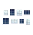 Collection of various window compositions vector image