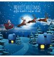 Merry Christmas and Happy New Year card Santa vector image