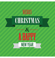 merry christmas green vector image