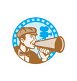 Movie Film Director With Bullhorn And Camera Retro vector image