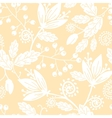 Yellow and white silhouettes flowers seamless vector image