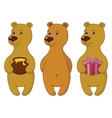 Teddy bears set vector image vector image