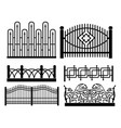 forged metal fences vector image