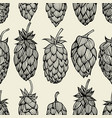 hop beer seamless pattern vector image