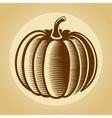 Pumpkin label in retro vintage style vector image vector image