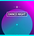 disco dance art design poster with abstract vector image vector image