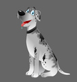 dog Great Dane white sitting 2 vector image vector image