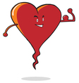 Strong heart cartoon vector image