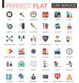 car service complex flat icon concept web
