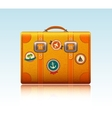 Travel suitcase with stickers vector image