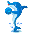 Dolphin with Ball vector image