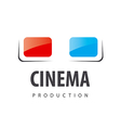 logo glasses for viewing 3D movies vector image vector image