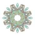 Mandala Ethnic lace round ornamental pattern vector image