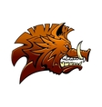 Head of a fierce snarling wild boar vector image