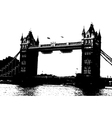 london bridge grunge vector image vector image