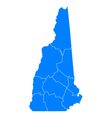 Map of New Hampshire vector image vector image