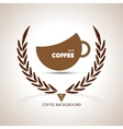 Coffee cup shape cafe menu coffee house menu vector image