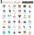 car service complex flat icon concept web vector image
