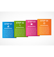 Colorful squares infographics for your business vector image