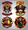 Firefighter badge set vector image