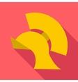 Gladiator helmet icon flat style vector image
