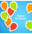 Happy birthday postcard with balloons vector image