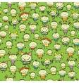 Happy children seamless background vector image