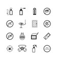insects and pest control pictograms vector image