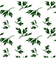 Leaf seamless pattern parsley vector image