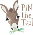 Pin The Tail vector image