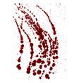 splattered blood stain on white background vector image