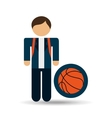 student uniform school basket ball design vector image