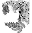 Zen Tangle portrait of a woman vector image