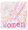 women entrepreneur text background wordcloud vector image