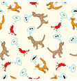 seamless background with pets vector image vector image