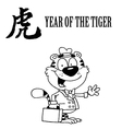 Year of the tiger cartoon vector image