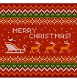 Christmas knit in Norway style vector image vector image