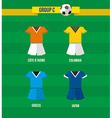 Brazil Soccer Championship 2014 Group C team vector image