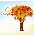 Maple tree autumn leaf fall EPS 8 vector image vector image