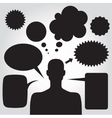 Clipart of man with speech bubbles vector image
