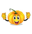 A strong squash with a smiling face vector image