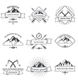 Camping mountain adventure hiking explorer vector image