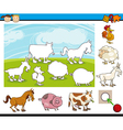 cartoon preschool task for kids vector image