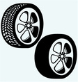 Tyre wheels automobile vector image vector image