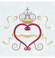 Calligraphic heart vector image