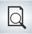 document with magnifying glass icon search vector image