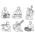 Indian musician set vector image