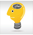 man light bulb head vector image
