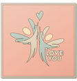Romantic design with two angels vector image